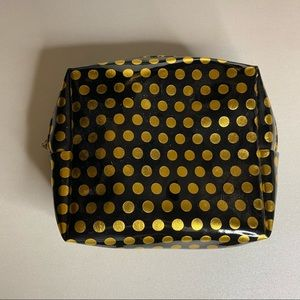 Gold and Black Pouch with Polka Dots Like New